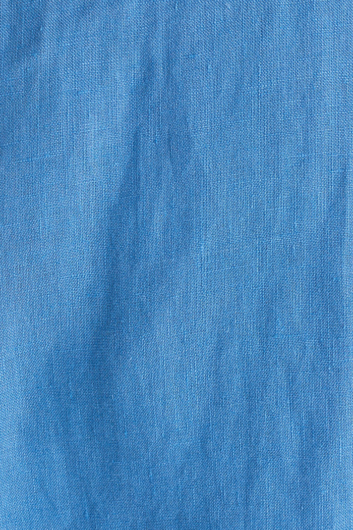 Made of 100% linen: Short-sleeved shirt, BLUE, detail image number 4