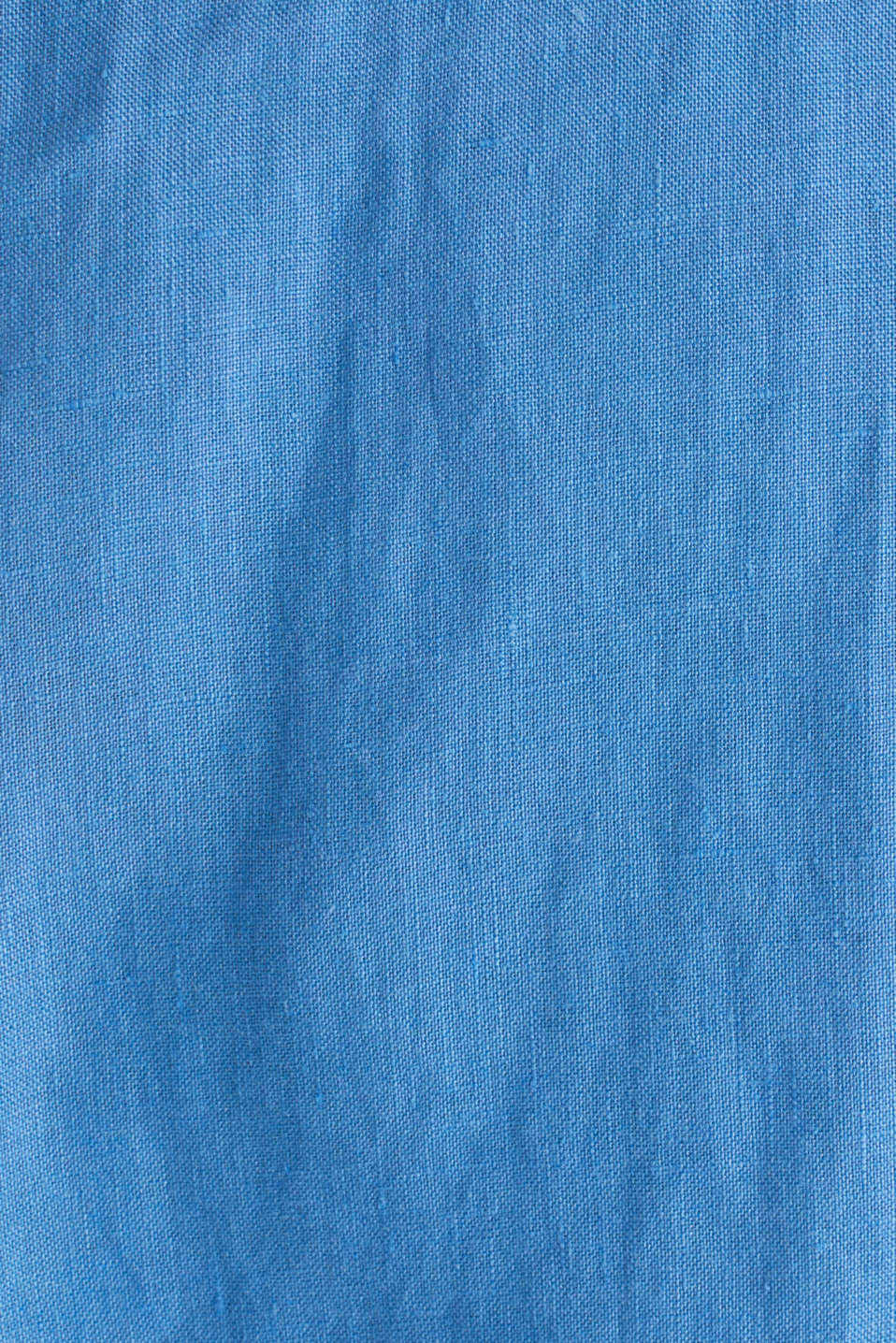 Made of 100% linen: Short-sleeved shirt, BLUE 2, detail image number 4