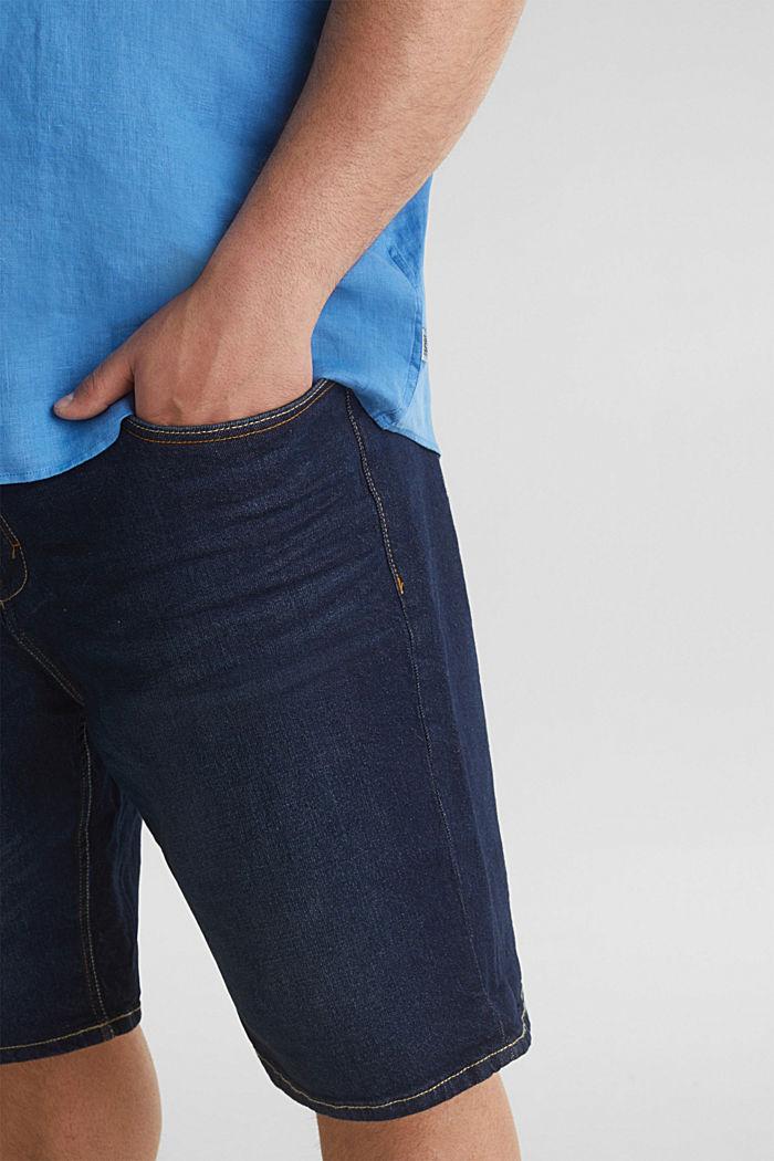 Made of 100% linen: Short-sleeved shirt, BLUE, detail image number 5