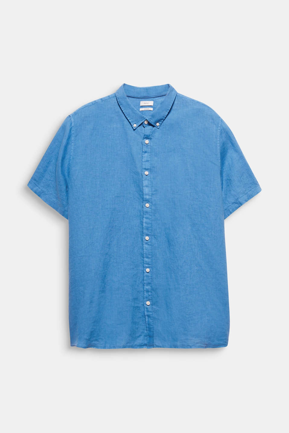 Made of 100% linen: Short-sleeved shirt, BLUE 2, detail image number 6