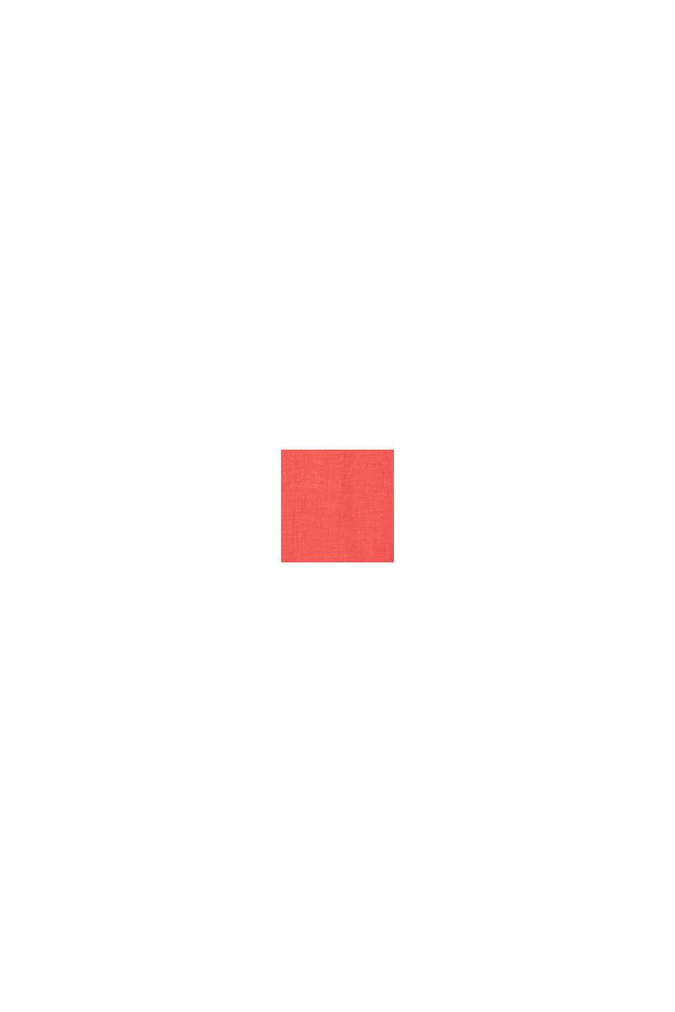 Aus 100% Leinen: Kurzarm-Hemd, CORAL RED, swatch