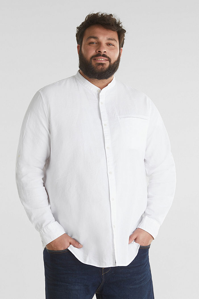 Stand-up collar shirt, 100% organic cotton