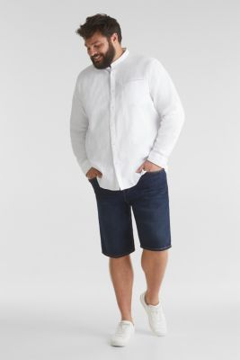 Stand-up collar shirt, 100% organic cotton, WHITE, detail