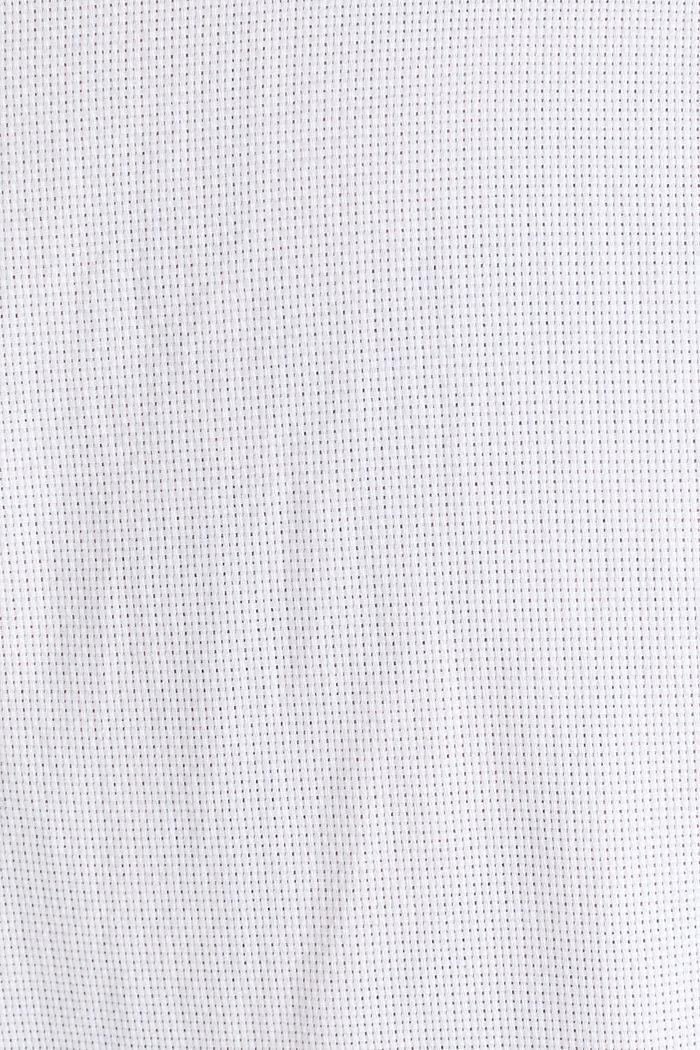 Stand-up collar shirt, 100% organic cotton, WHITE, detail image number 4