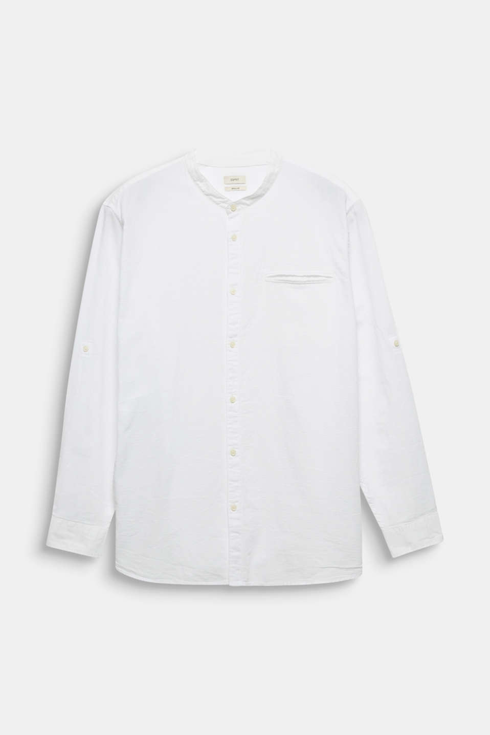 Stand-up collar shirt, 100% organic cotton, WHITE 5, detail image number 6