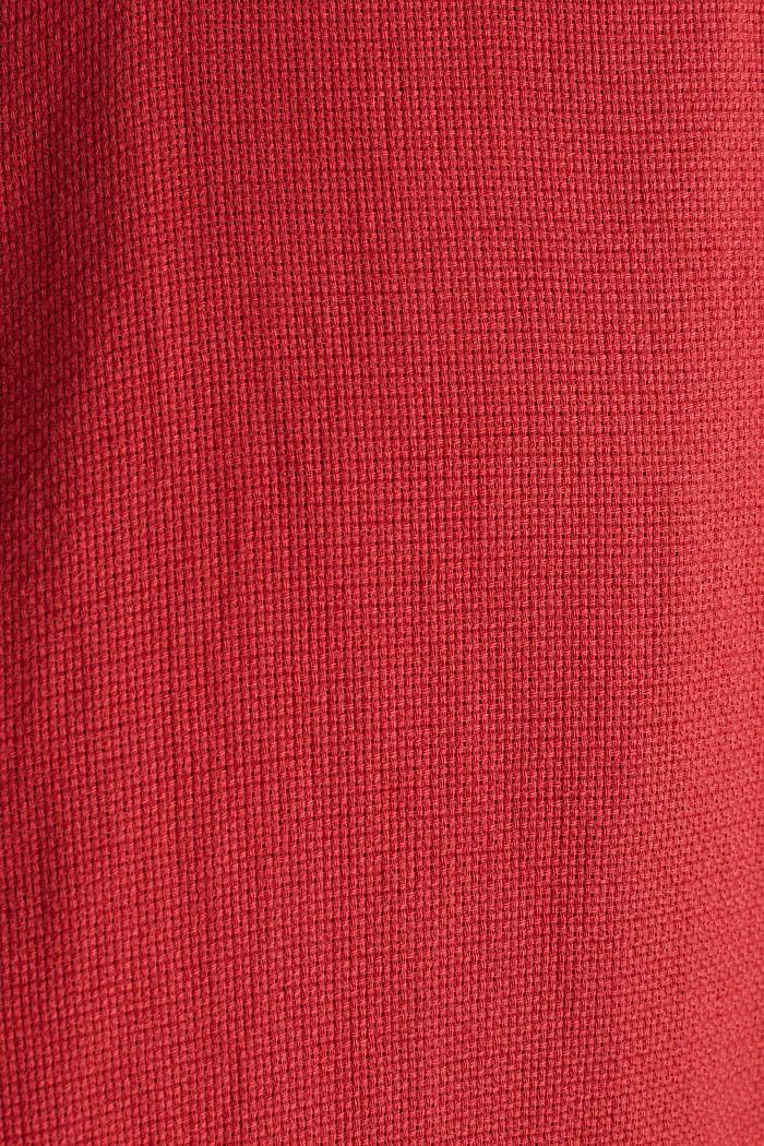 Stehkragen-Hemd, 100% Bio-Baumwolle, ORANGE RED, detail image number 4