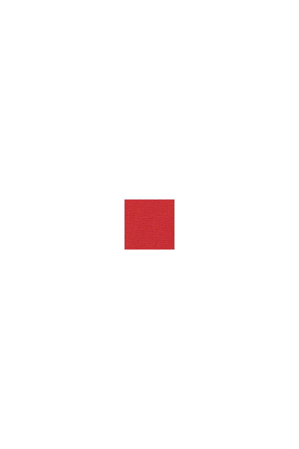Stehkragen-Hemd, 100% Bio-Baumwolle, ORANGE RED, swatch