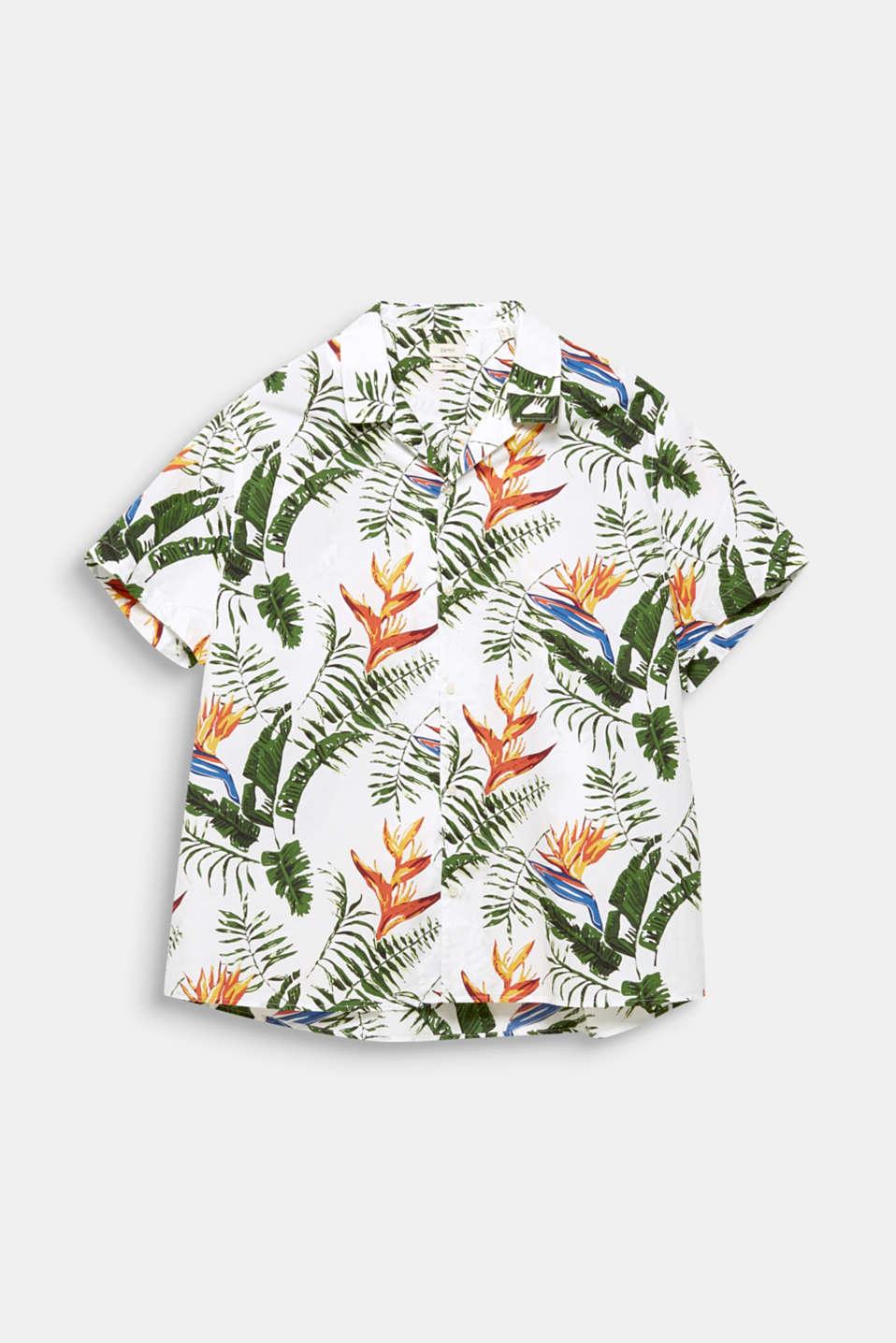 Print shirt, 100% organic cotton, WHITE 4, detail image number 7