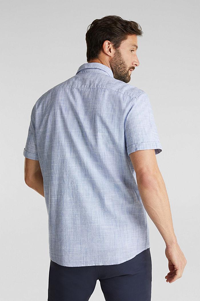 Short-sleeved shirt, 100% organic cotton, BLUE, detail image number 3
