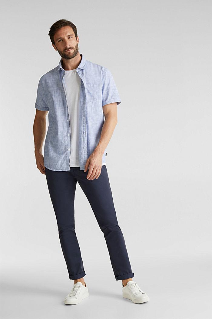 Short-sleeved shirt, 100% organic cotton, BLUE, detail image number 5