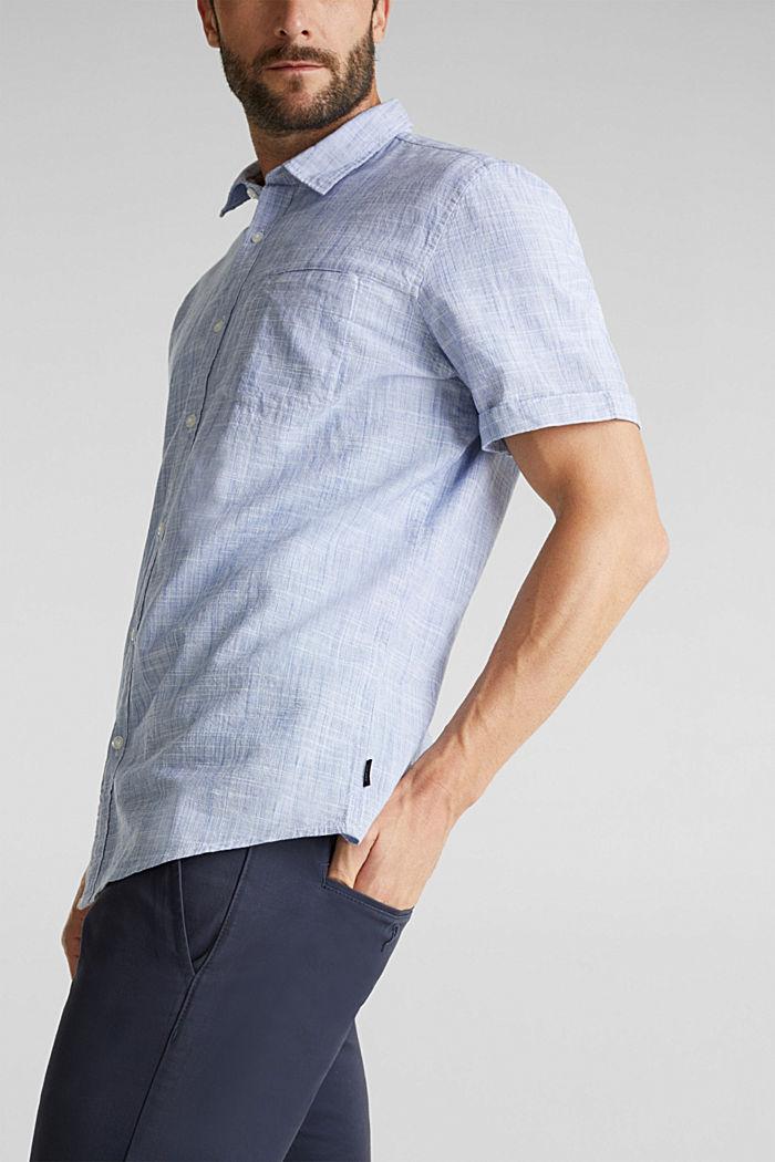 Short-sleeved shirt, 100% organic cotton, BLUE, detail image number 2