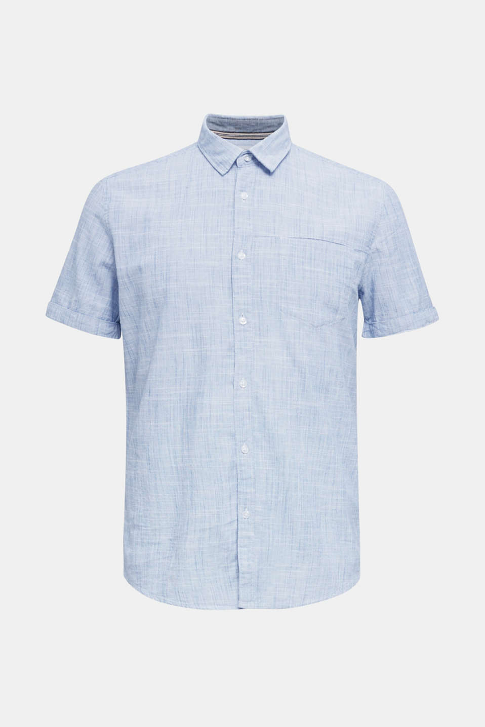 Short-sleeved shirt, 100% organic cotton, BLUE, detail image number 6