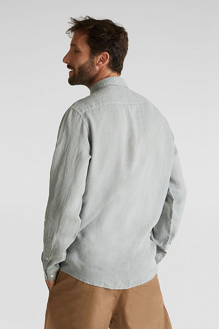EarthColors®: Shirt made of 100% linen, LIGHT KHAKI, detail image number 3