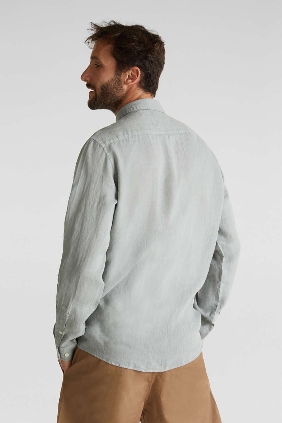 EarthColors®: Shirt made of 100% linen, LIGHT KHAKI 2, detail image number 3