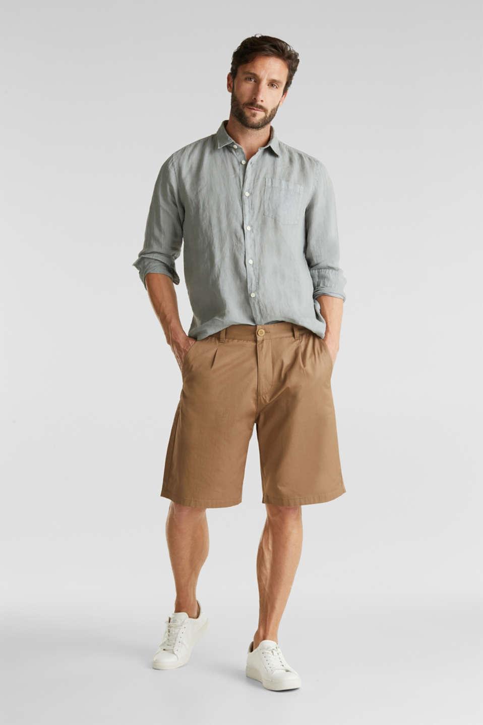 EarthColors®: Shirt made of 100% linen, LIGHT KHAKI 2, detail image number 1