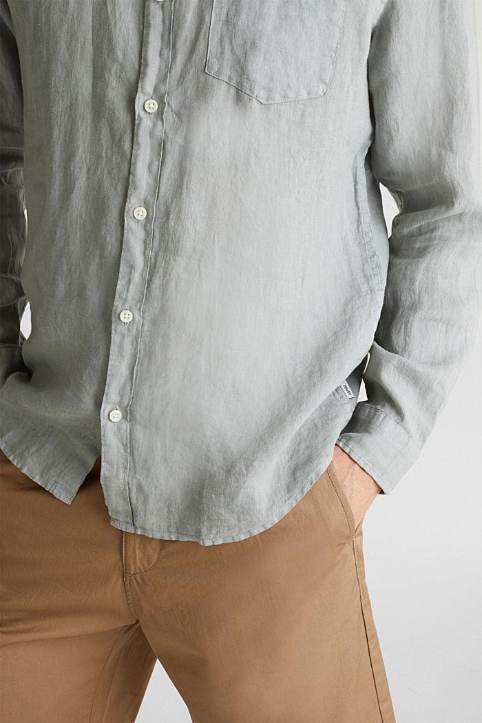 EarthColors®: Hemd aus 100% Leinen, LIGHT KHAKI, detail image number 2