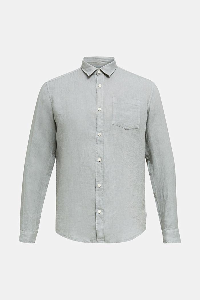 EarthColors®: Shirt made of 100% linen, LIGHT KHAKI, detail image number 6