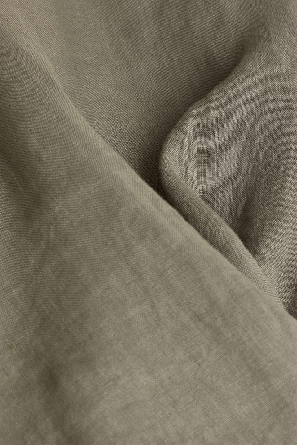 EarthColors®: Shirt made of 100% linen, DARK KHAKI 2, detail image number 4