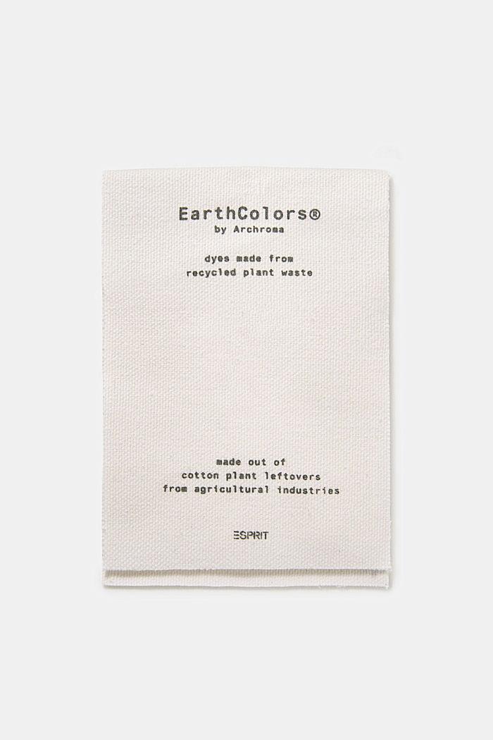 EarthColors®: Shirt made of 100% linen, DARK KHAKI, detail image number 5