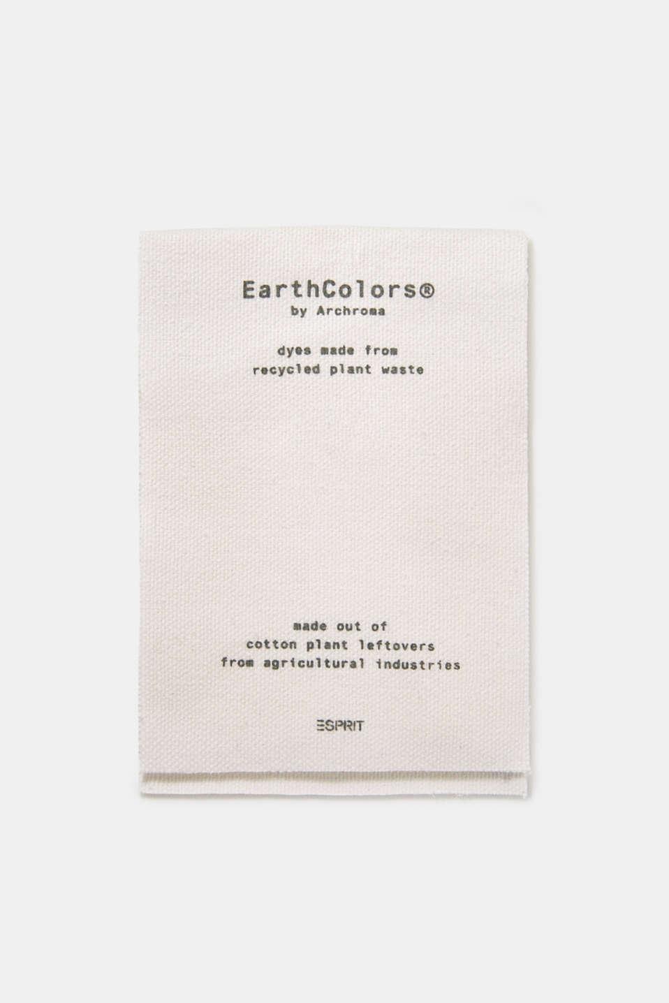 EarthColors®: Shirt made of 100% linen, DARK KHAKI 2, detail image number 5