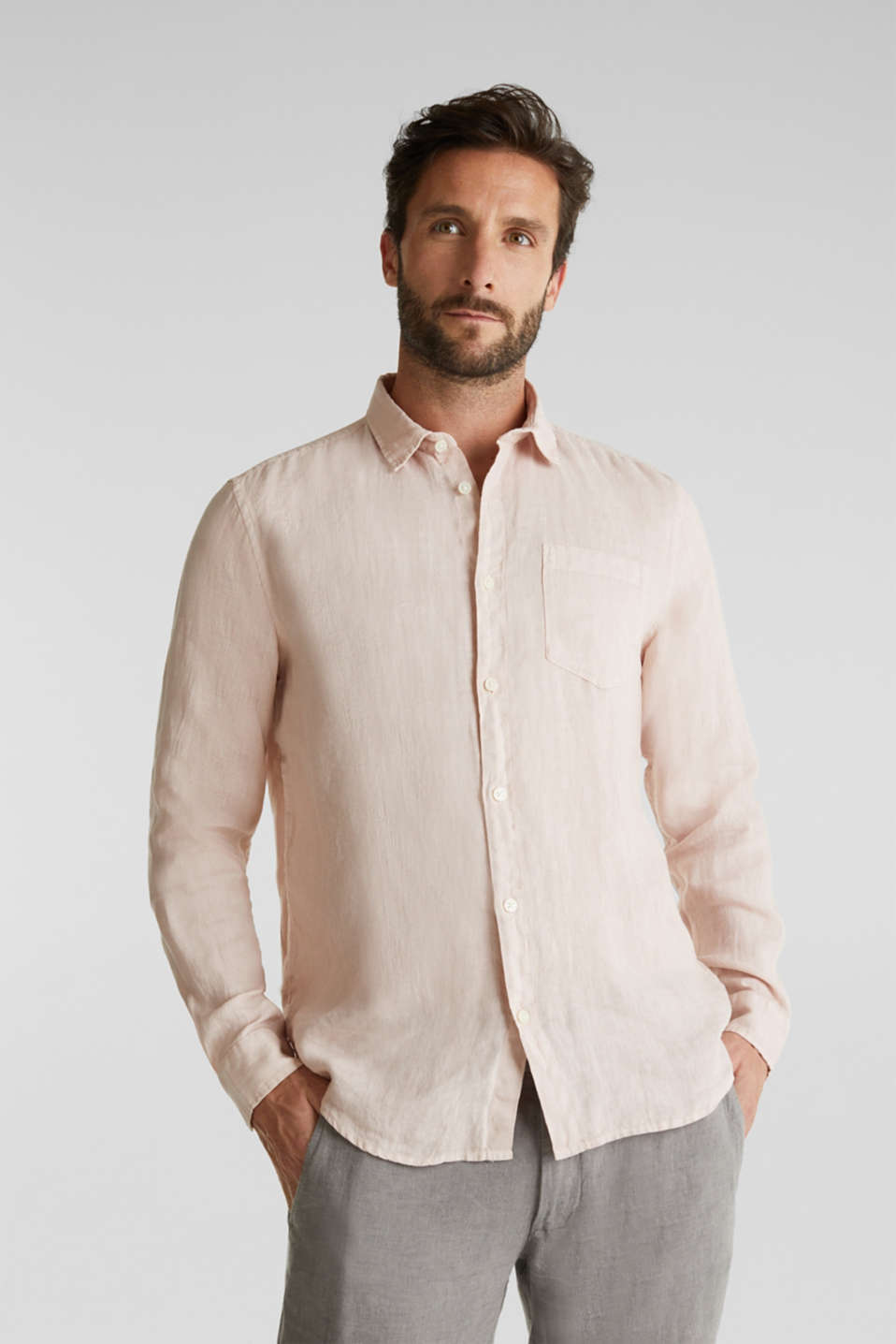 Esprit - EarthColors®: Shirt made of 100% linen