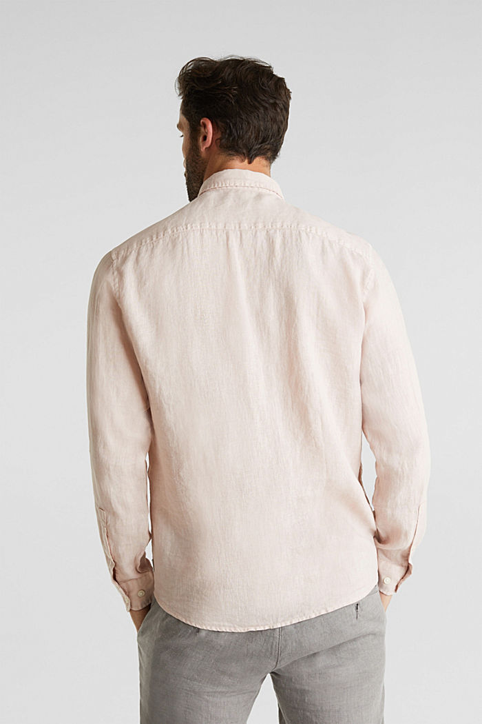 EarthColors®: Shirt made of 100% linen, BLUSH, detail image number 3