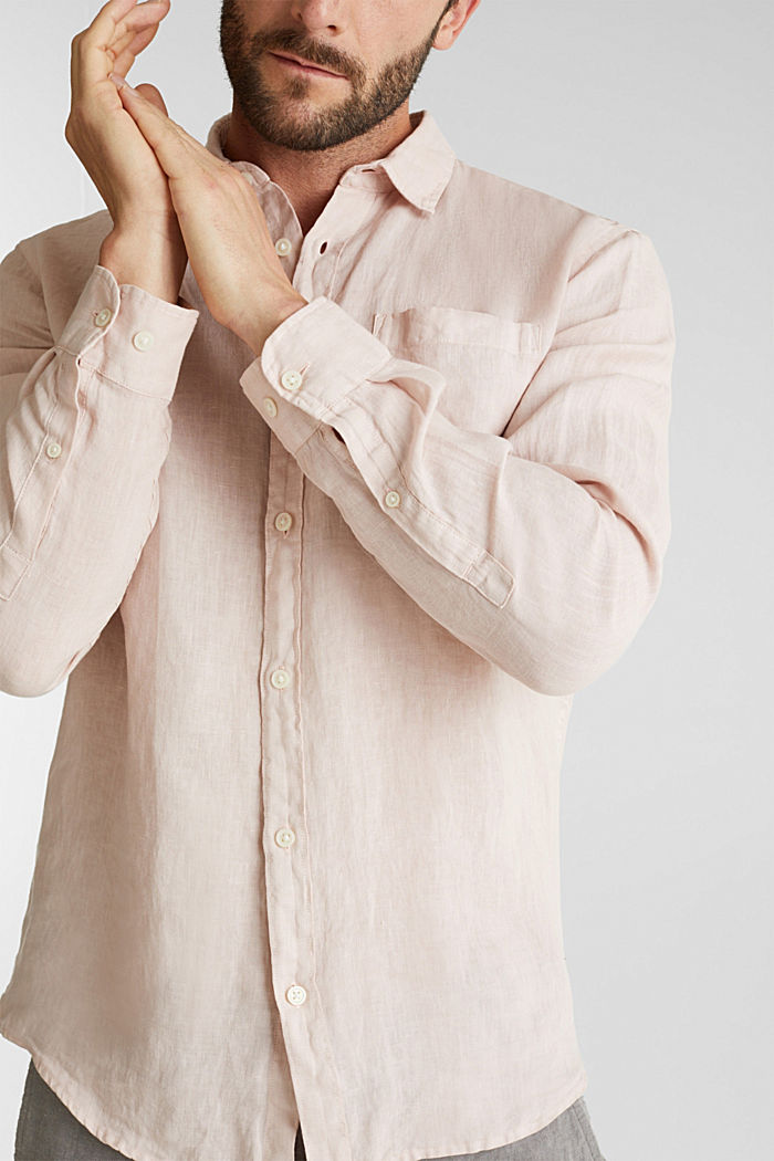 EarthColors®: Shirt made of 100% linen, BLUSH, detail image number 2