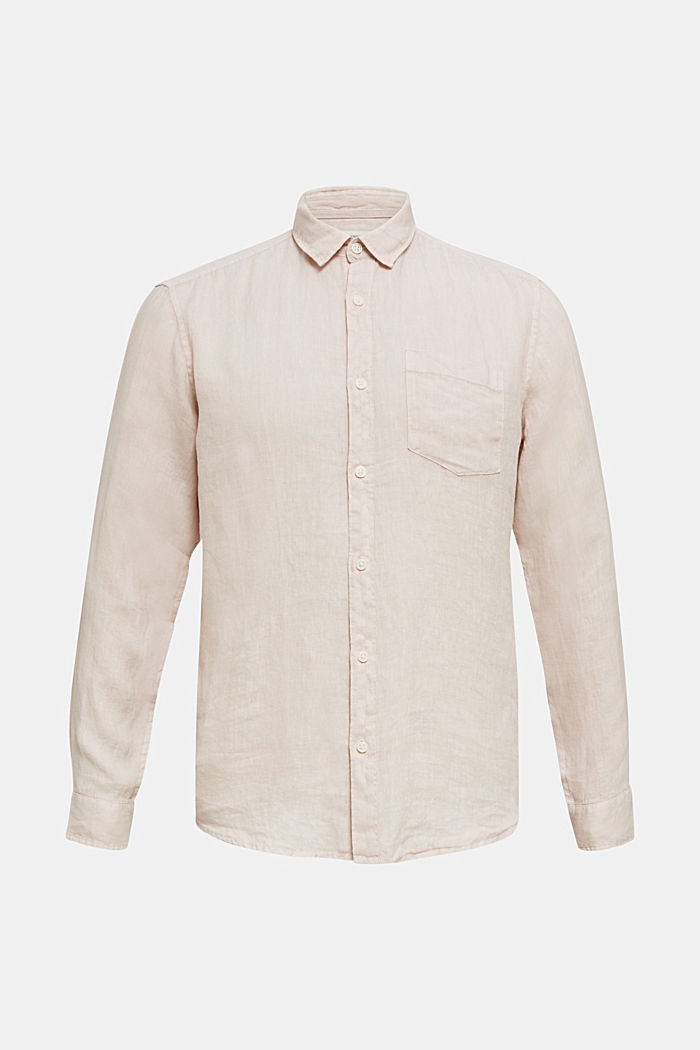EarthColors®: Shirt made of 100% linen, BLUSH, detail image number 6