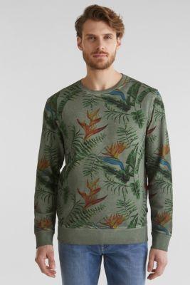 Shirt with print, 100% organic cotton, KHAKI GREEN 4, detail