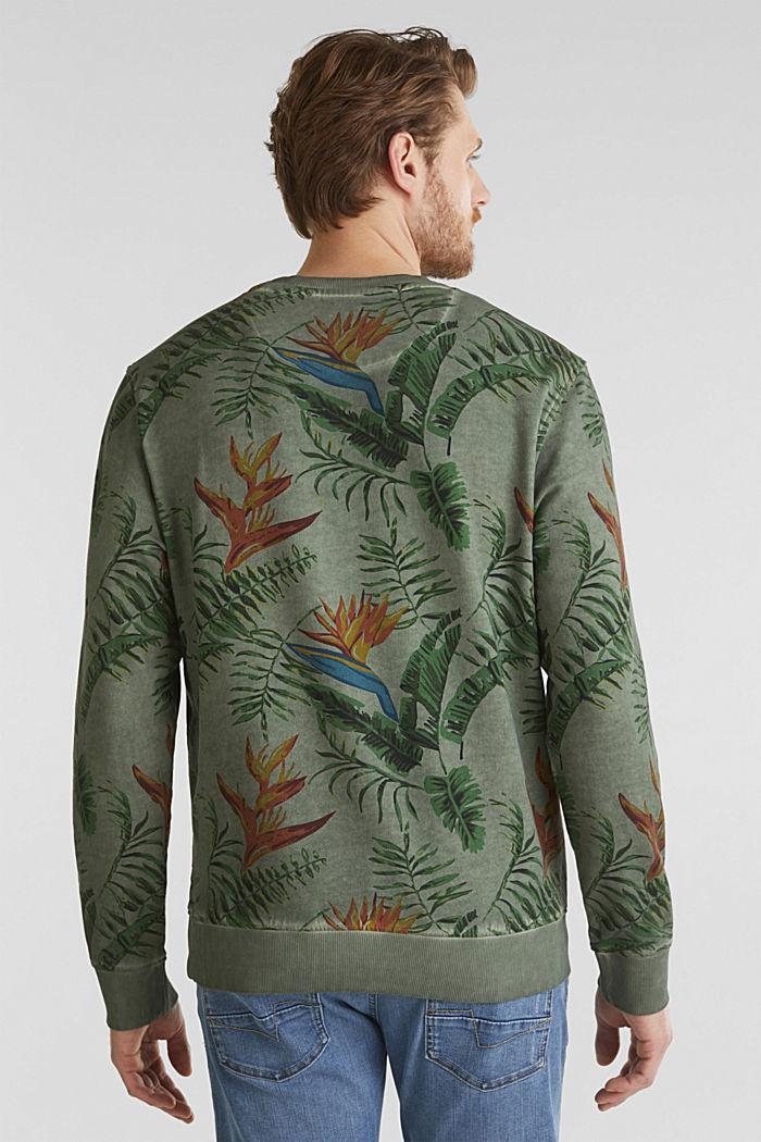Shirt with print, 100% organic cotton, KHAKI GREEN, detail image number 2