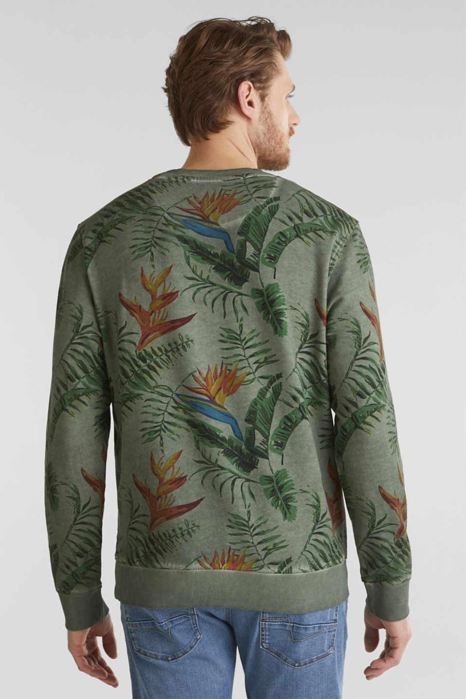 Shirt with print, 100% organic cotton, KHAKI GREEN 4, detail image number 2