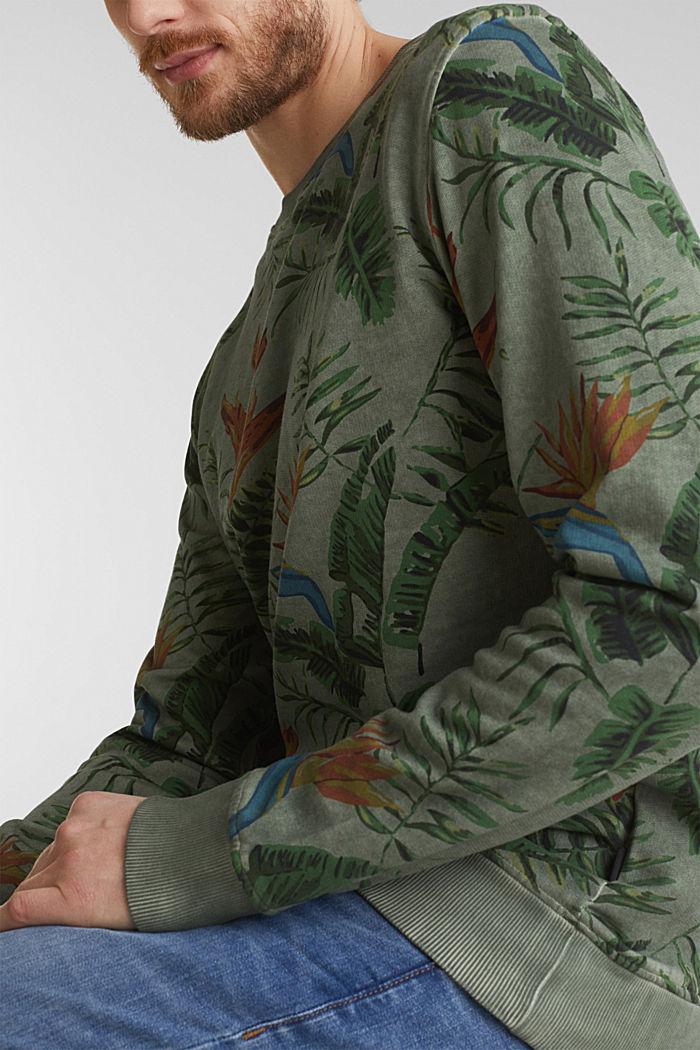 Shirt with print, 100% organic cotton, KHAKI GREEN, detail image number 1