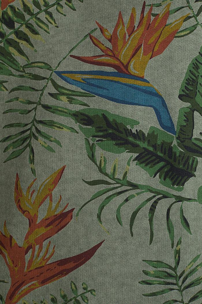 Shirt with print, 100% organic cotton, KHAKI GREEN, detail image number 3