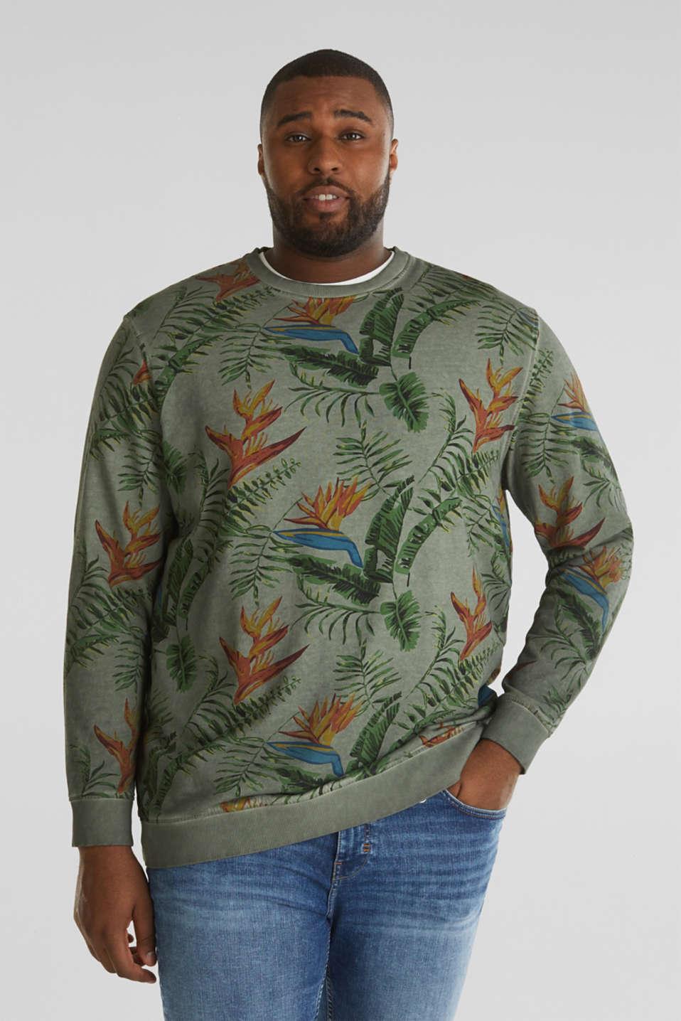 Shirt with print, 100% organic cotton, KHAKI GREEN 4, detail image number 0