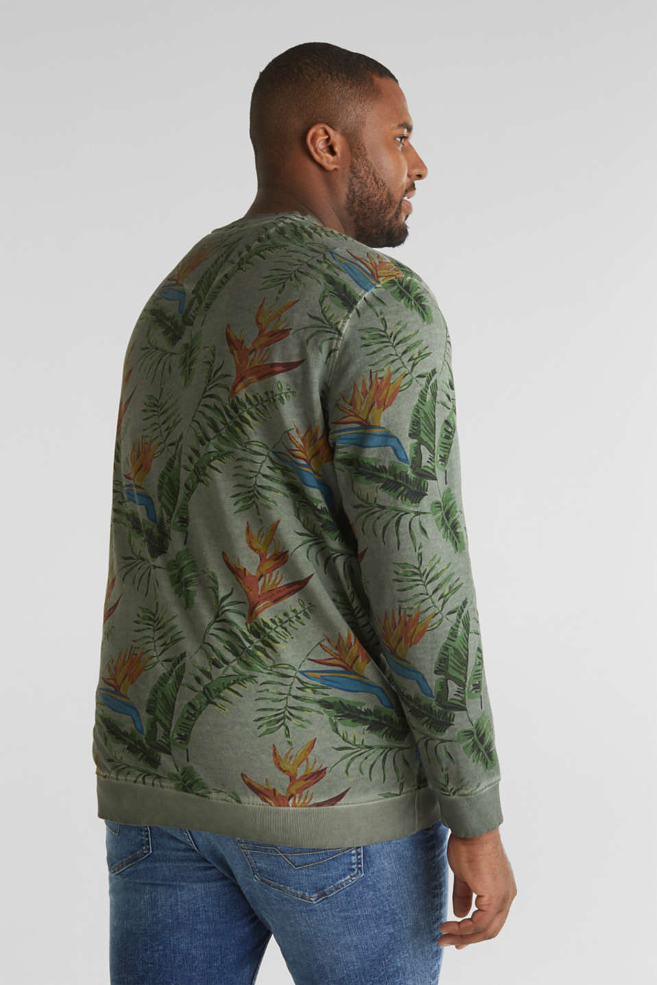 Shirt with print, 100% organic cotton, KHAKI GREEN 4, detail image number 3