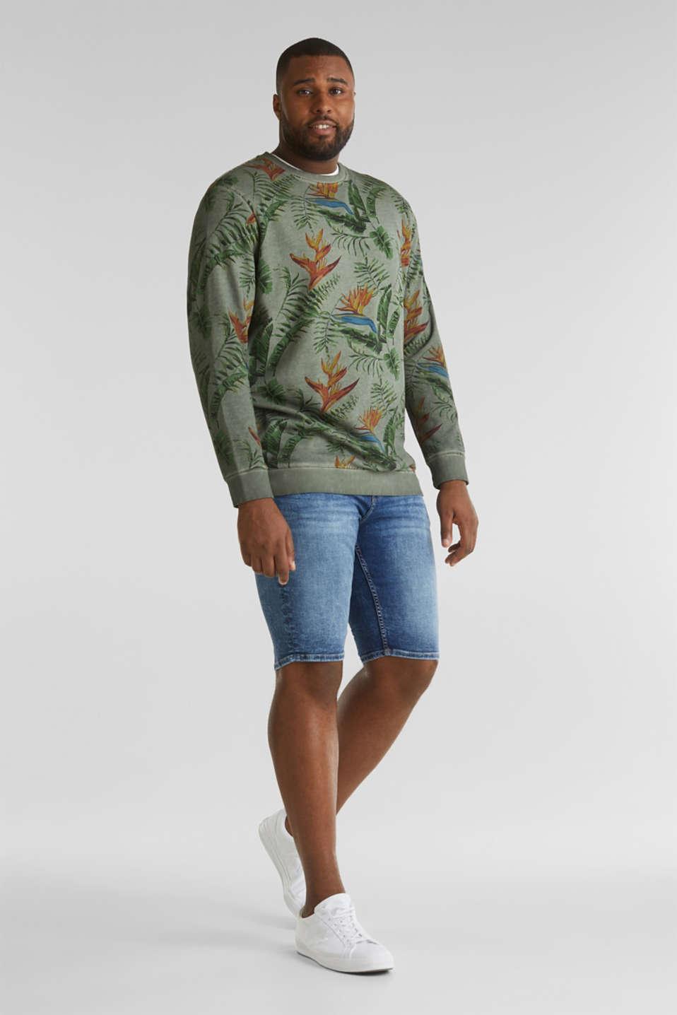 Shirt with print, 100% organic cotton, KHAKI GREEN 4, detail image number 1