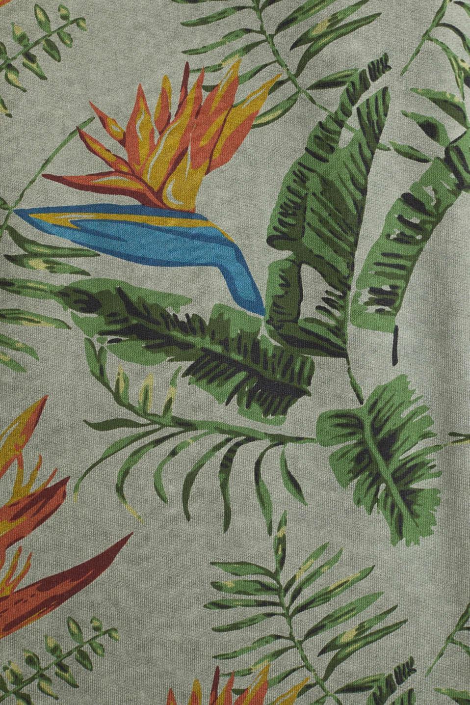 Shirt with print, 100% organic cotton, KHAKI GREEN 4, detail image number 4