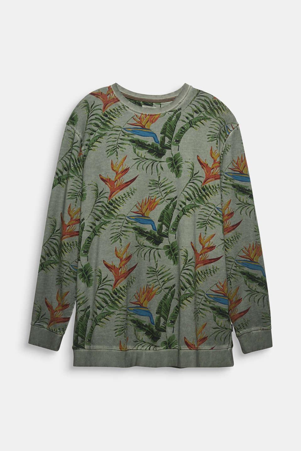 Shirt with print, 100% organic cotton, KHAKI GREEN 4, detail image number 5