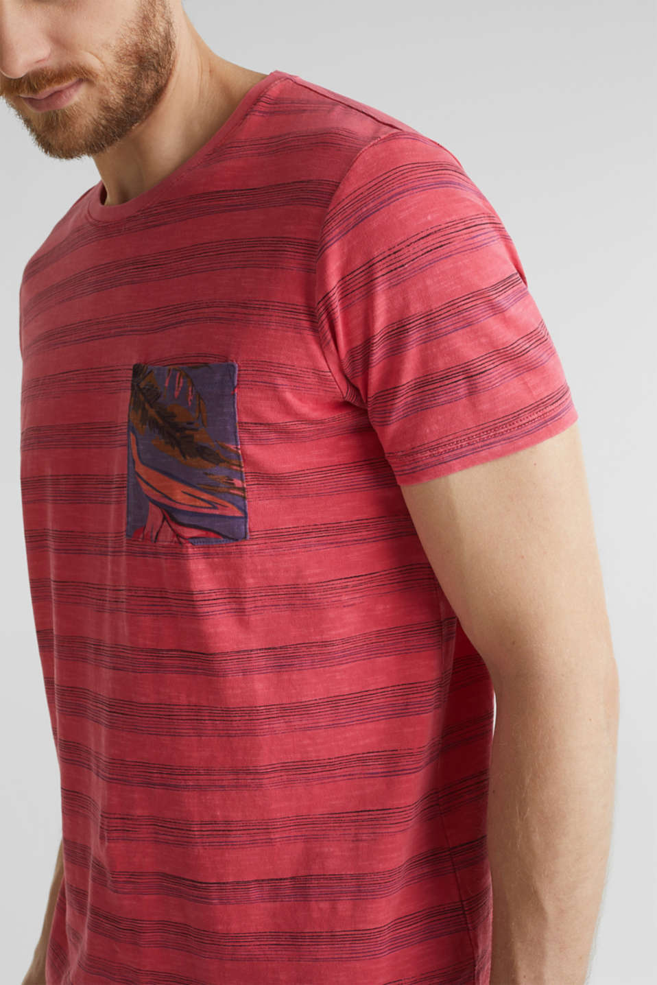 Jersey top, 100% organic cotton, CORAL RED 3, detail image number 1
