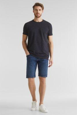 Melange piqué T-shirt, NAVY 5, detail
