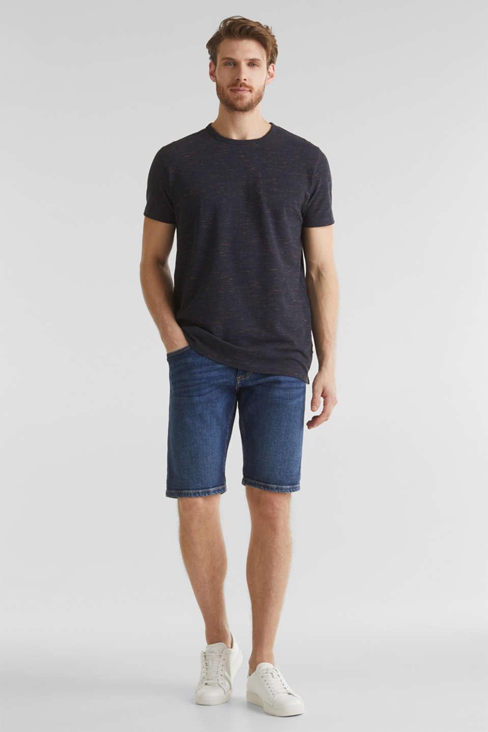 Melange piqué T-shirt, NAVY 5, detail image number 2