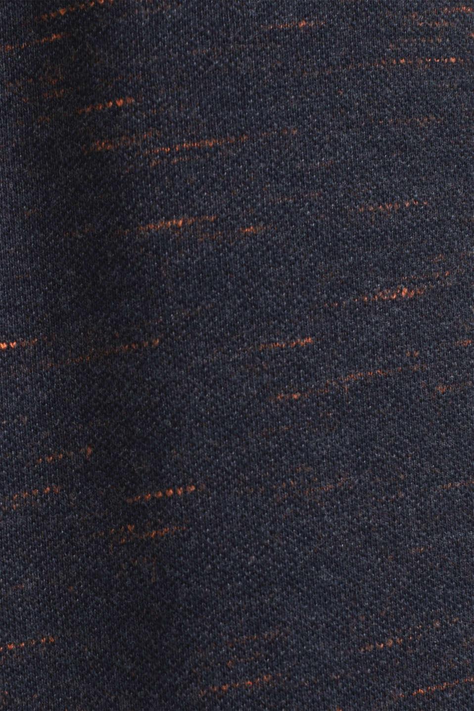 Melange piqué T-shirt, NAVY 5, detail image number 4