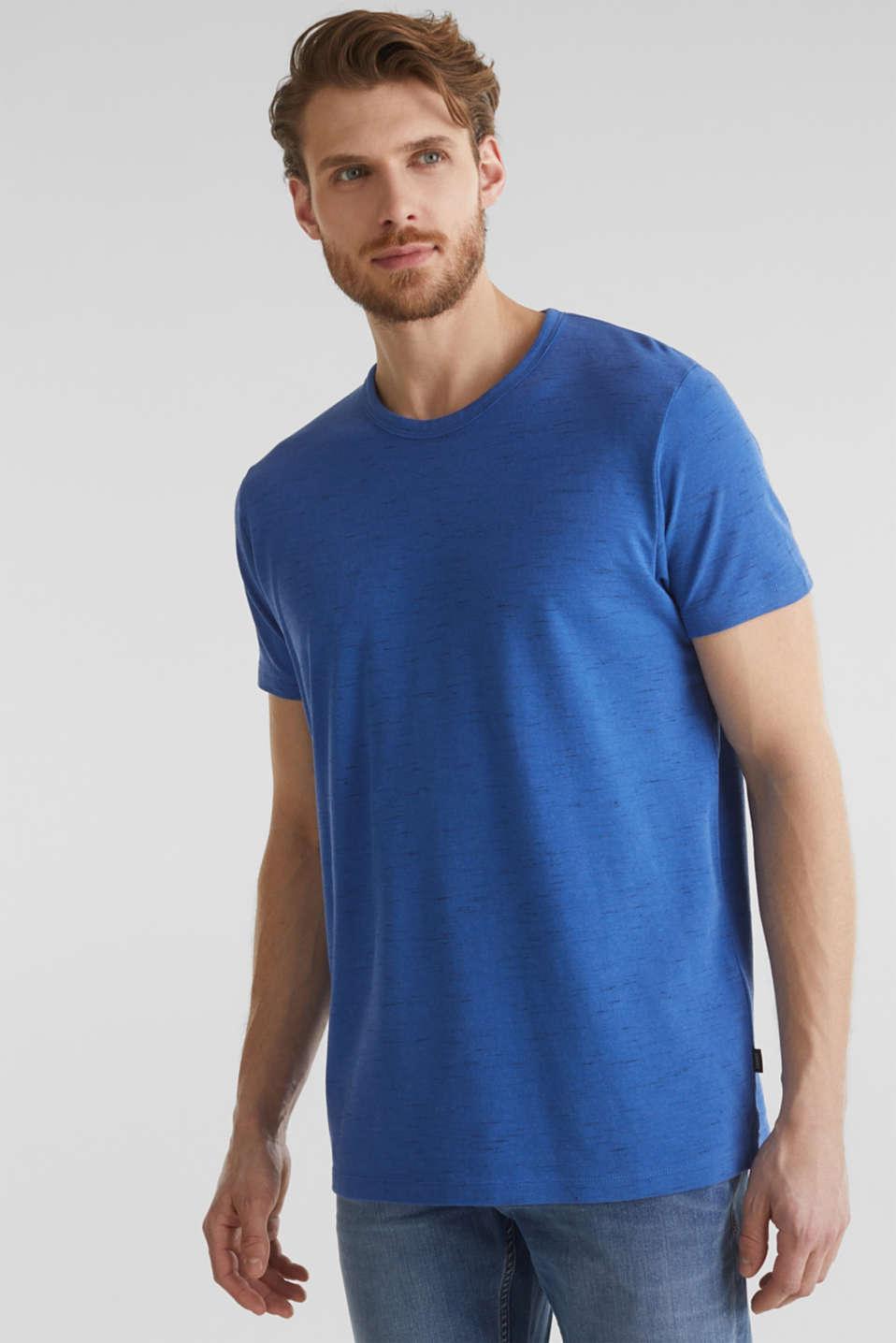 Melange piqué T-shirt, BLUE 5, detail image number 0