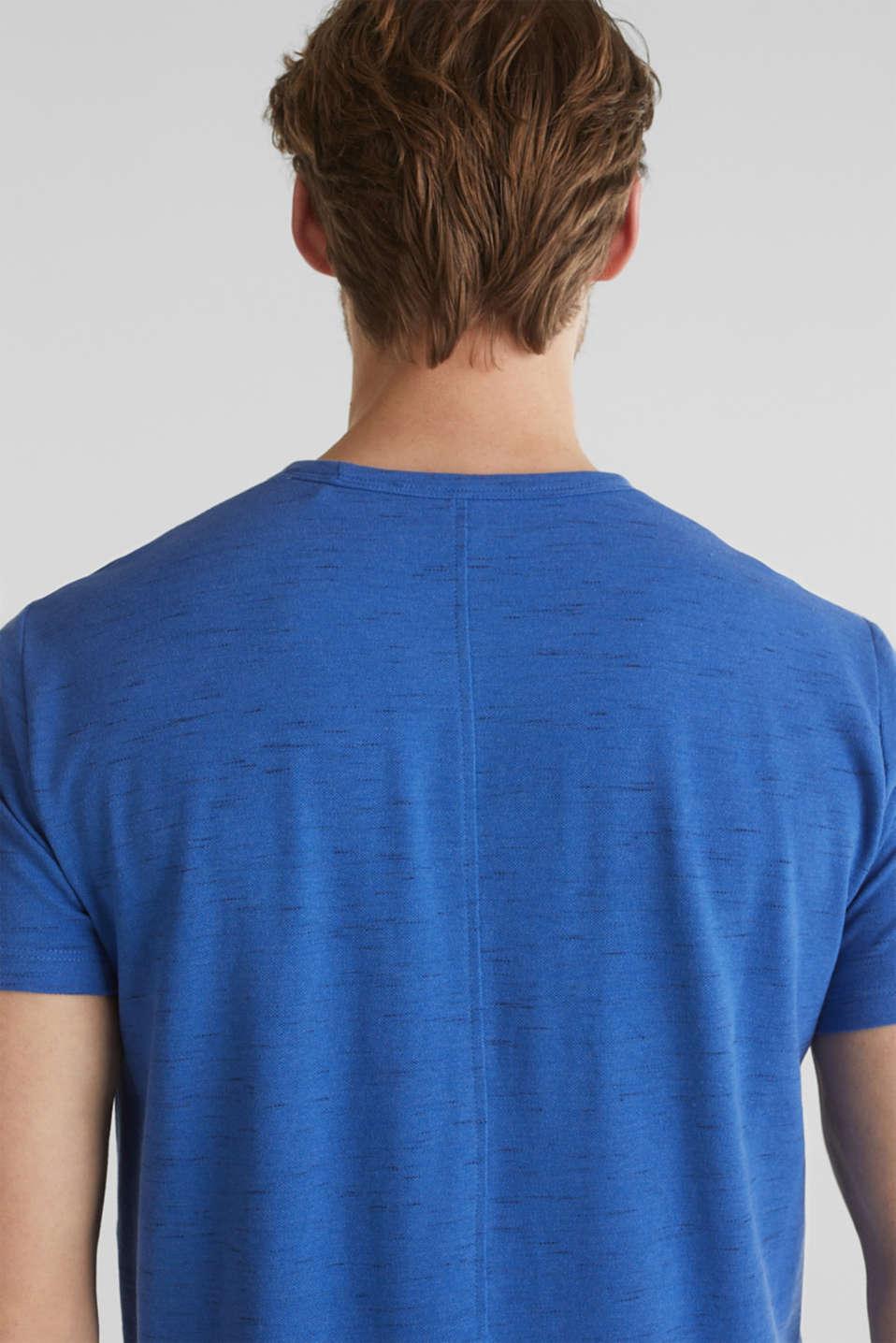 Melange piqué T-shirt, BLUE 5, detail image number 1