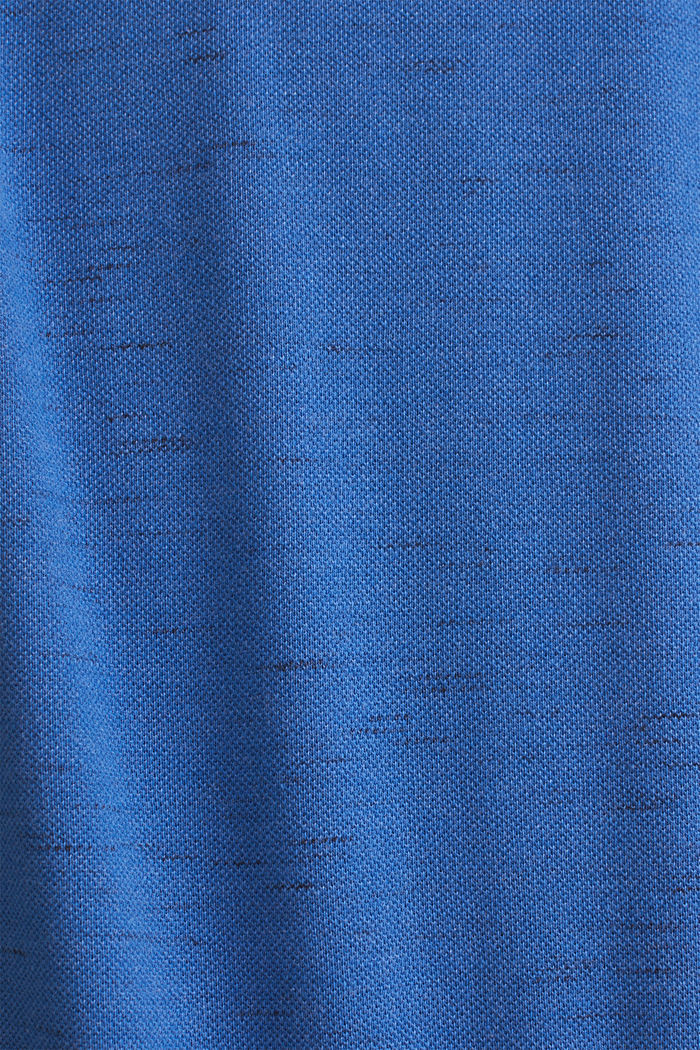 Piqué-Shirt in meliertem Look, BLUE, detail image number 3