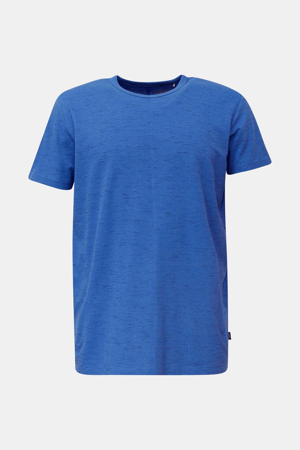 Melange piqué T-shirt, BLUE 5, detail image number 4
