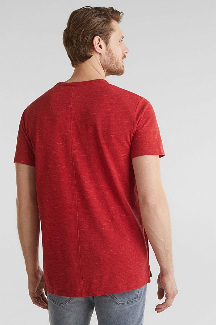 Piqué-Shirt in meliertem Look, CORAL RED, detail image number 3