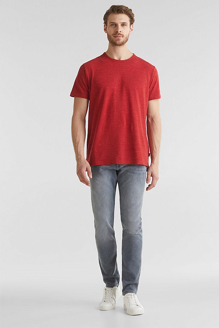 Piqué-Shirt in meliertem Look, CORAL RED, detail image number 2