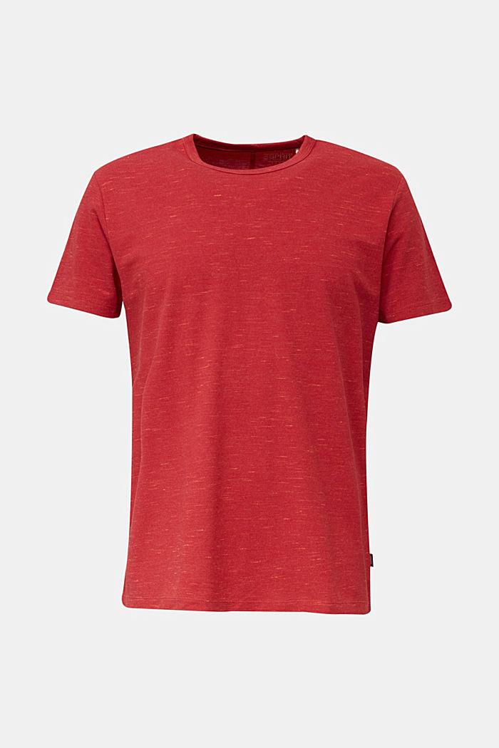 Piqué-Shirt in meliertem Look, CORAL RED, detail image number 6