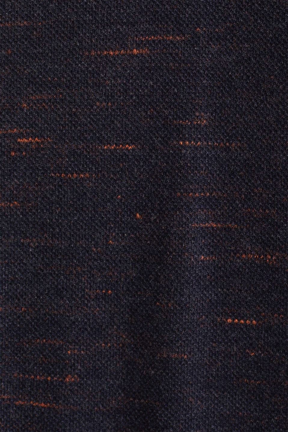 Piqué T-shirt in a layered look, NAVY 5, detail image number 2